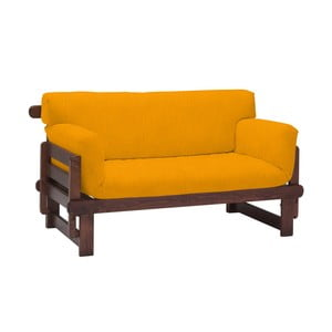 Żółta rozkładana sofa dwuosobowa 13Casa Karma