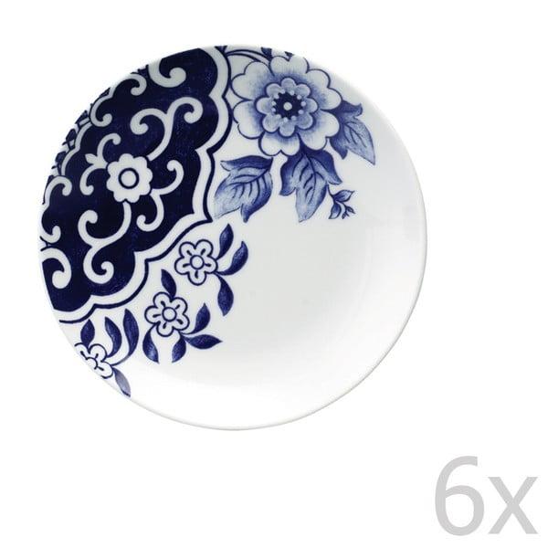 Zestaw 6 porcelanowych talerzyków deserowych Willow Love Story