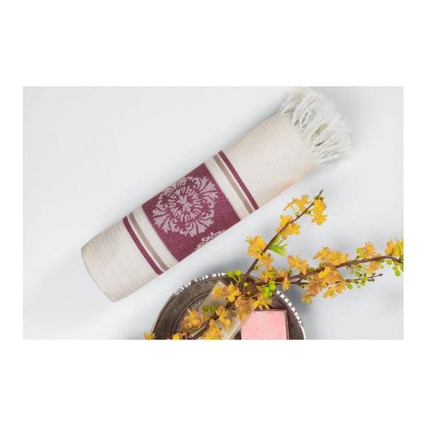 Ręcznik hammam Loincloth Burgundy Stripe, 80x170 cm