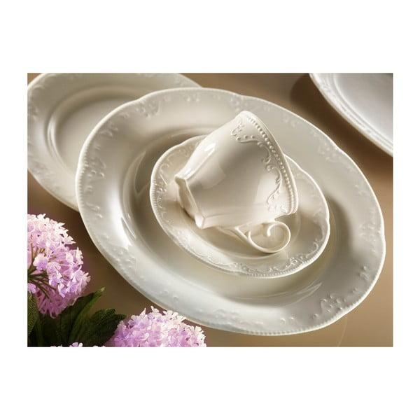 Komplet 6 porcelanowych filiżanek ze spodkami Kutahya Elegance, 150 ml