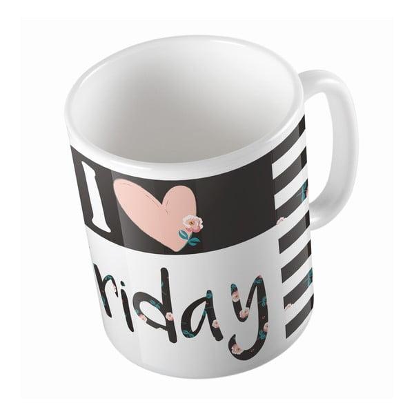 Ceramiczny kubek Love Friday, 330 ml