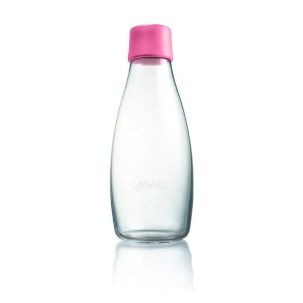 Jasnoróżowa butelka ze szkła ReTap z dożywotnią gwarancją, 500 ml