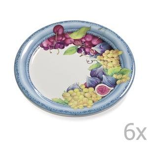 Zestaw 6 talerzy Blue Garden, 26.5 cm