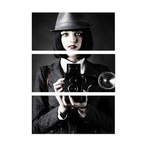 Obraz trzyczęściowy Fotografka
