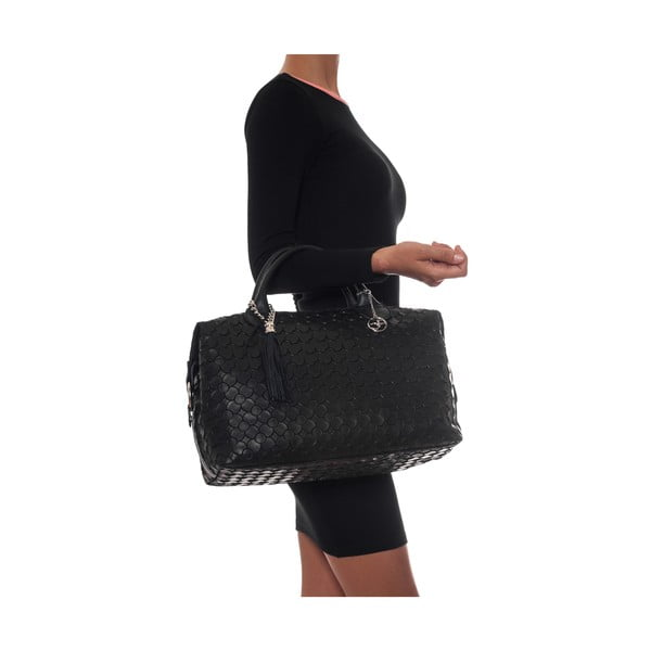 Skórzana torebka Carla Ferreri 890 Nero