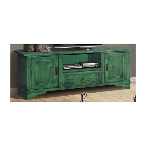 Zielona TV komoda z litego drewna topoli Evergreen House Design