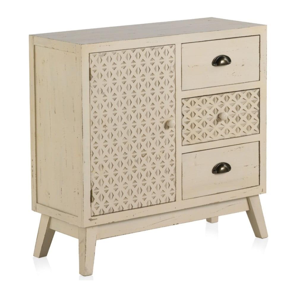 Drewniana komoda z drzwiczkami a 3 szufladami Geese Lorelai
