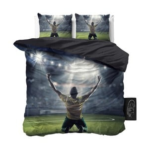 Dwuosobowa pościel z mikroperkalu Sleeptime Football Champion, 240x220 cm