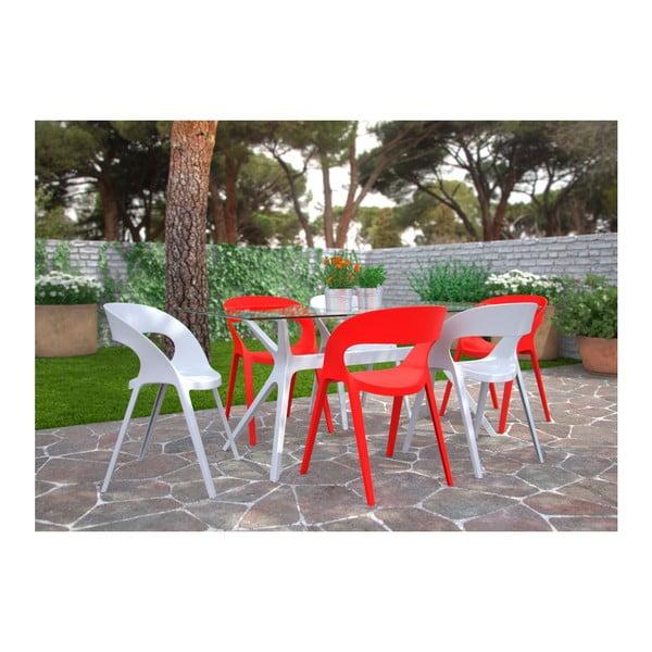 Zestaw 2 białych krzeseł ogrodowych Resol carla
