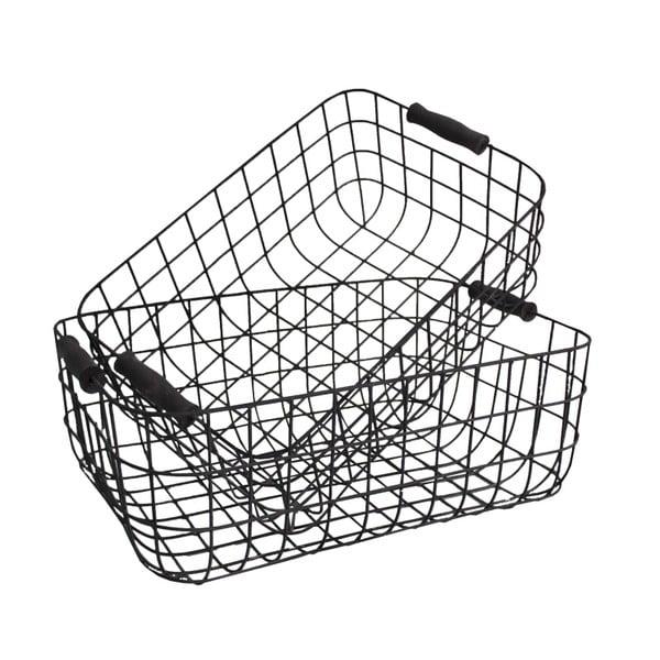 Zestaw 2 metalowych koszyków Loft