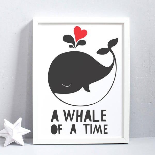 Plakat Karin Åkesson Design Whale Of Time, 30x40 cm