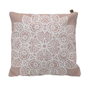 Poduszka Overseas Lace Blush/White, 45x45 cm