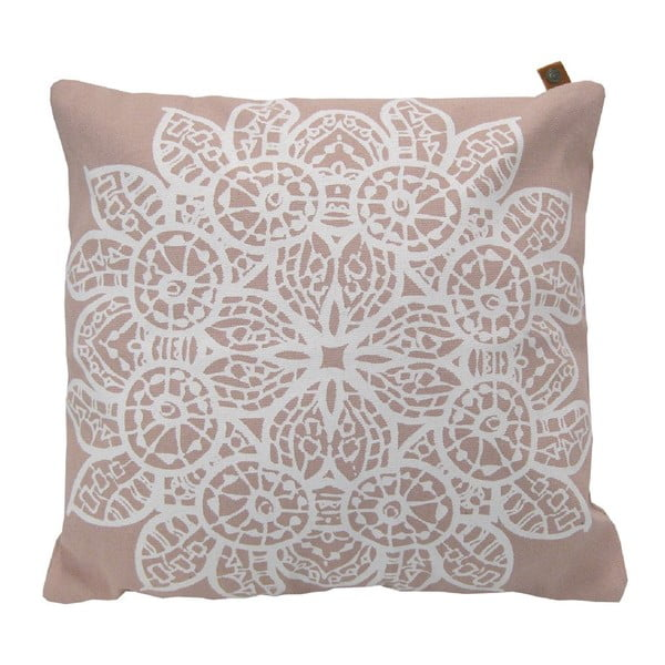 Poduszka Overseas Lace Blush/White, 45x45 cm