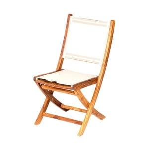 Składane krzesło ogrodowe z drewna tekowego Massive Home Anaisa
