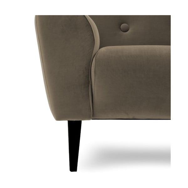 Szaro-brązowy fotel Vivonita Klara