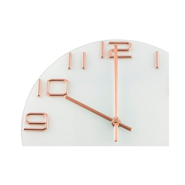 Zegar Numbers Copper, 30 cm