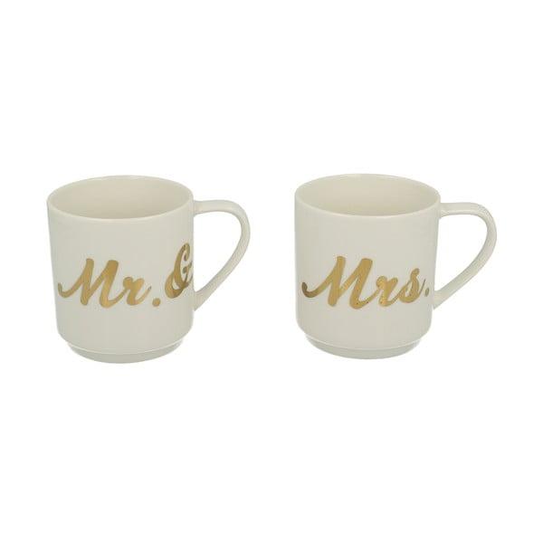 Zestaw 2 kubków Mr & Mrs, 350 ml