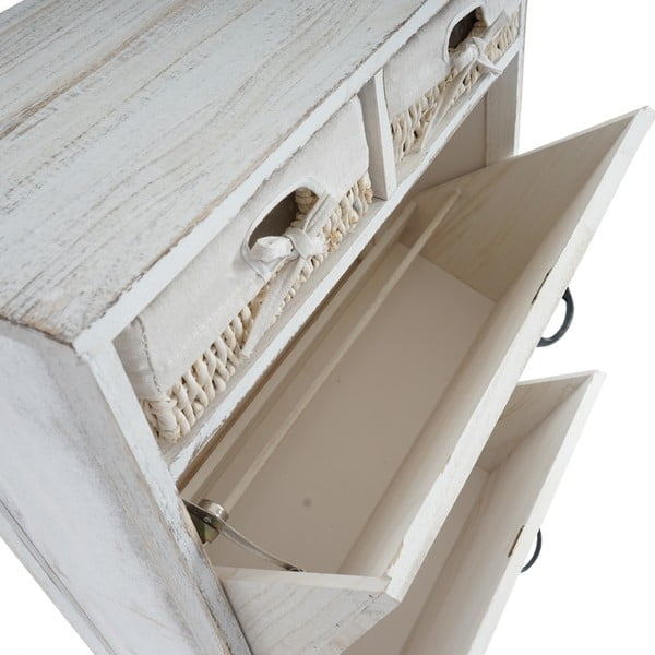 Szafka na buty Shabby Cabinet, biała