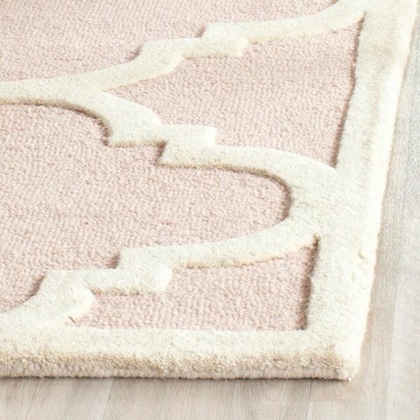 Dywan wełniany Clark 60x91 cm, różowy
