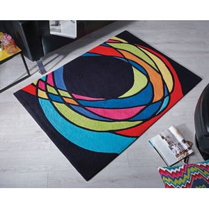 Dywan Flair Rugs Spectre Black/Multi, 120x170 cm