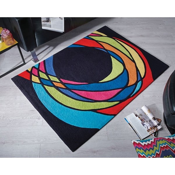 Dywan Flair Rugs Spectre Black/Multi, 160x230 cm