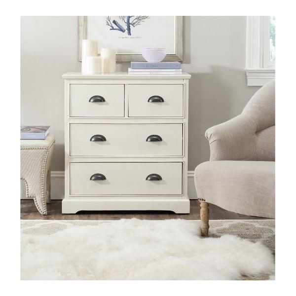 Biała komoda z szufladami Safavieh Bedford