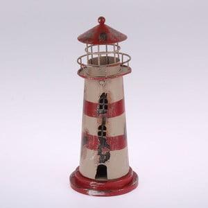 Metalowy świecznik wiszący  Red Stripes Lighthouse, 22 cm