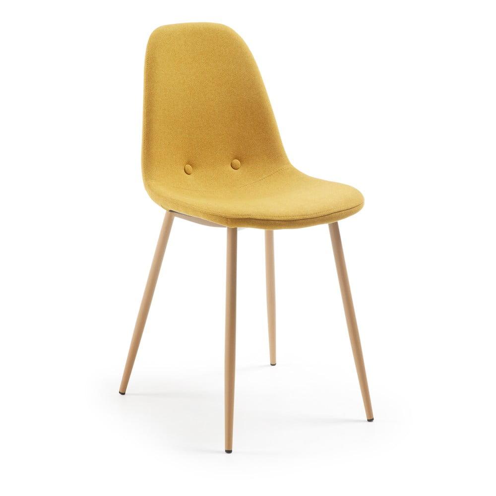 Musztardowe krzesło La Forma Lissy