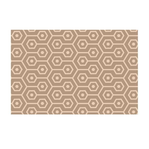 Winylowy dywan Hexágonos Beige, 100x150 cm