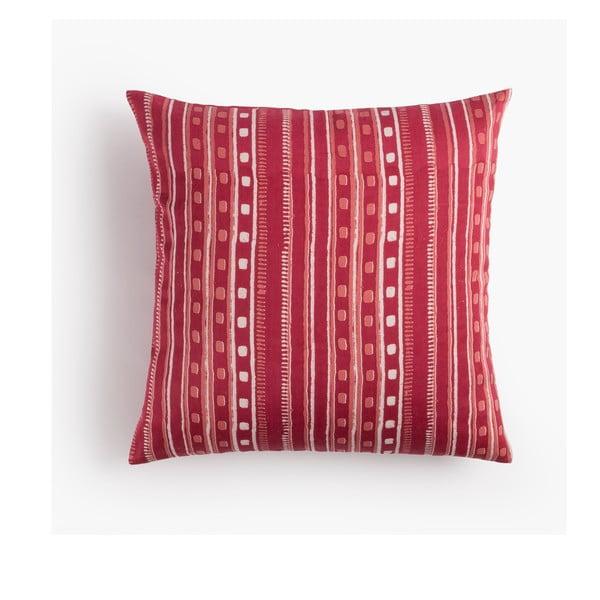 Poszewka na poduszkę Cuadros Rojo, 45x45 cm