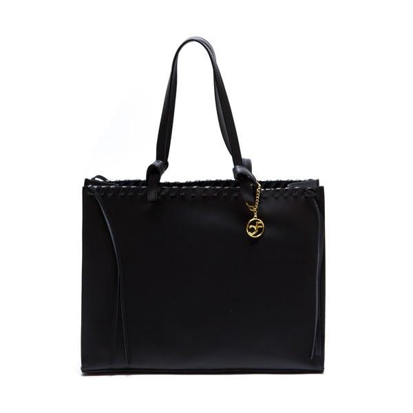 Skórzana torebka Felicia, czarna