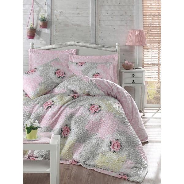 Komplet pościeli Melani Four Seasons Pink, 220x230