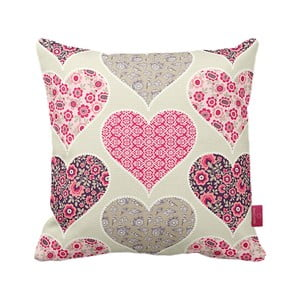 Poduszka Pink Hearts, 43x43 cm