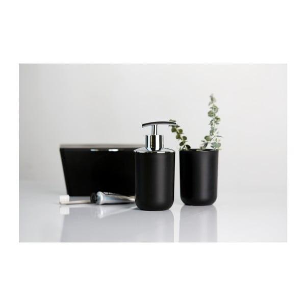 Czarny pojemnik łazienkowy Wenko Brasil