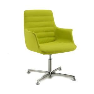 Zielone krzesło biurowe na kółkach Vetta Zago
