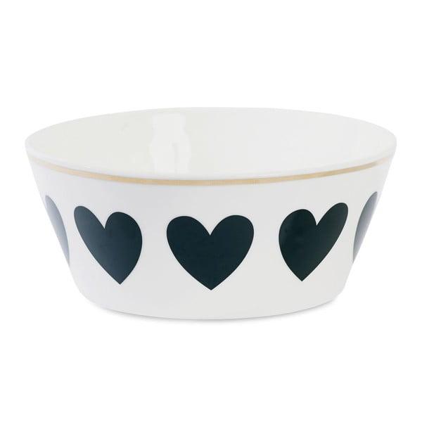 Miska ceramiczna Étoile Heart Black