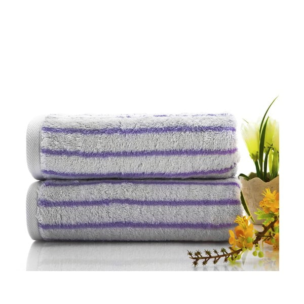 Ręcznik Live Lilac, 50x90 cm