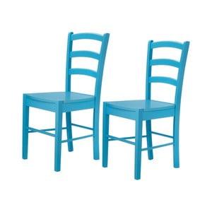 Zestaw 2 niebieskich krzeseł Støraa Trento Quer
