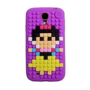 Pikselowe etui na Samsung S4, fioletowe