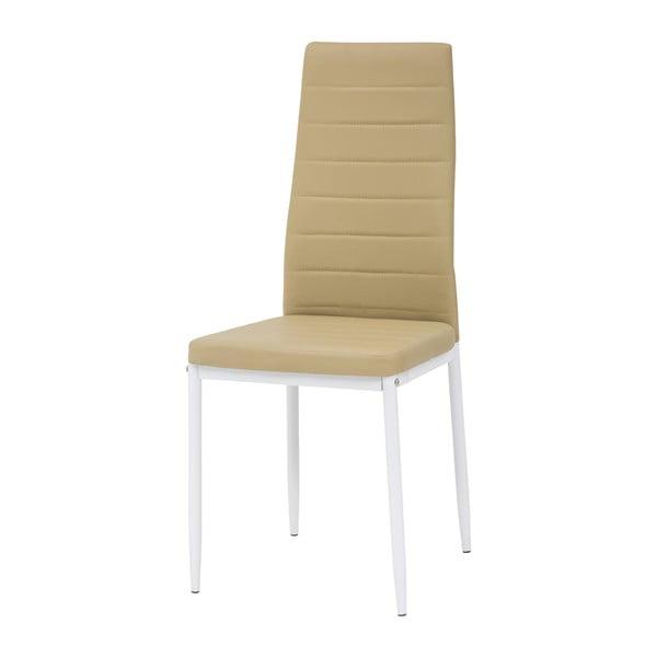 Krzesło Queen, miodowe/białe nogi