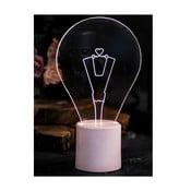 Lampka Bulb, różowa podstawa