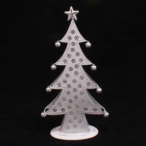 Dekoracyjna metalowa choinka, 14 cm