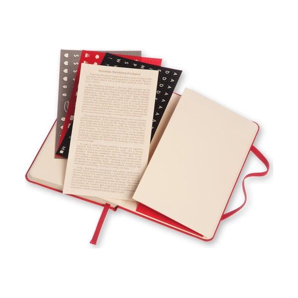 Czerwony tygodniowy kalendarz Moleskine Hard, 18 miesięcy, mały