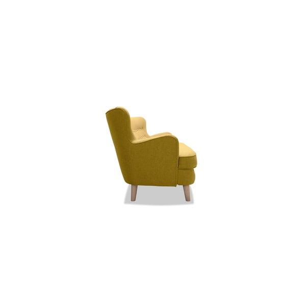 Żółta sofa trzyosobowa VIVONITA Eden