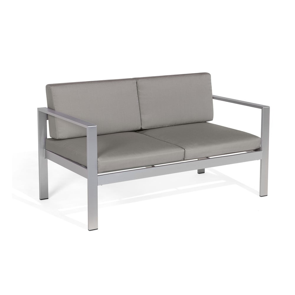 Ciemnoszara 2-osobowa sofa ogrodowa Monobeli Line