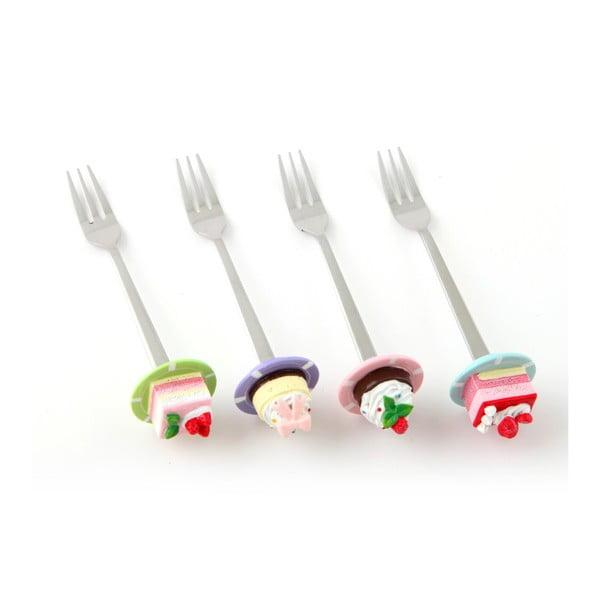 Zestaw 4 widelczyków deserowych Palce lizać