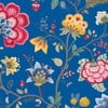Tapeta Pip Studio Floral Fantasy, 0,52x10 m, ciemnoniebieska