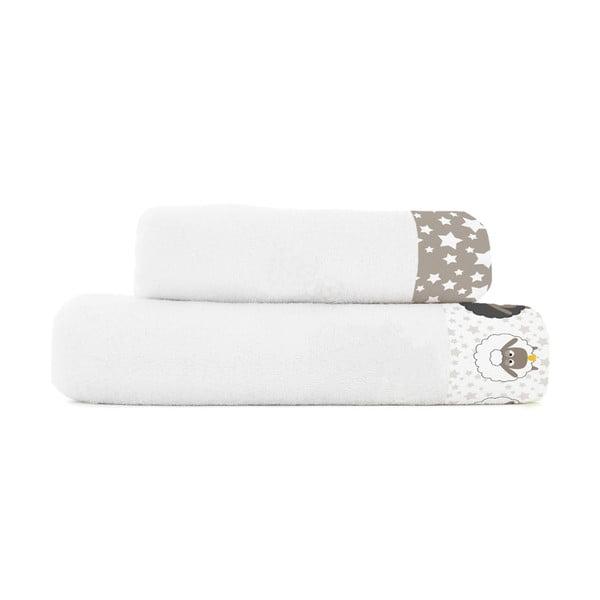 Zestaw 2 ręczników Baleno Little Sheep, 50x100 i 70x140 cm