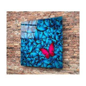 Szklany obraz Insigne Azul Butterfly, 30x30 cm