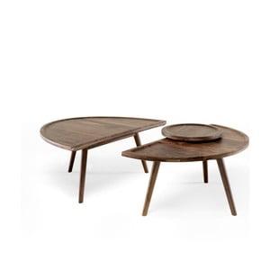 2-częściowy stolik z drewna orzecha Wewood-Portuguese Joinery Colombo